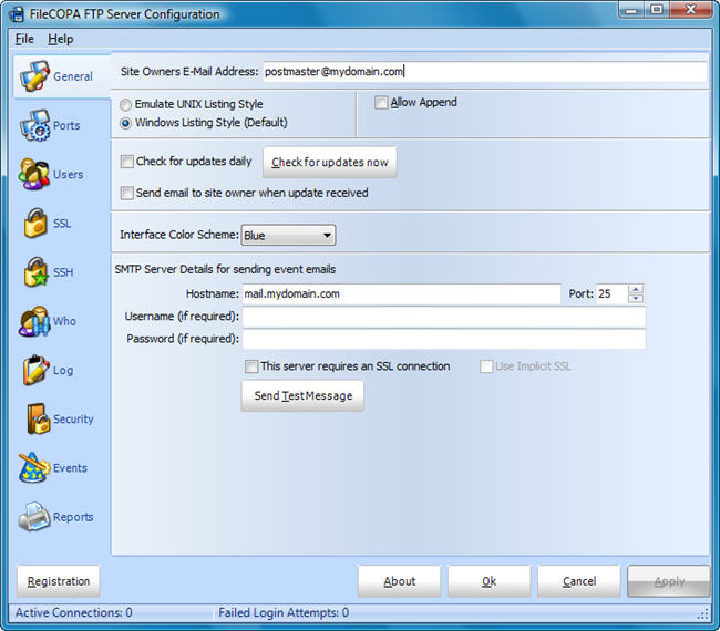 Click to view FileCOPA FTP Server 7.01 screenshot